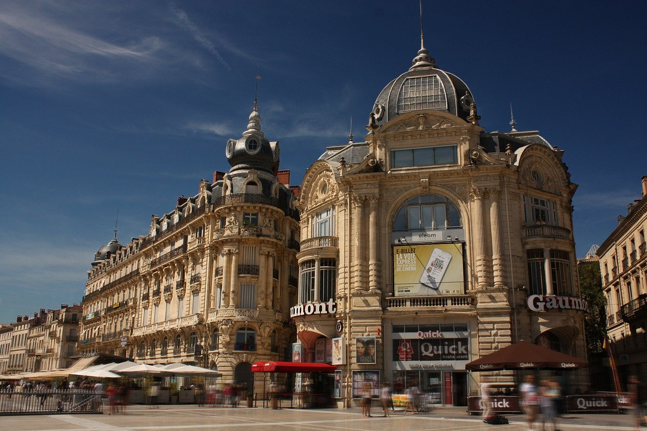 montpellier, place of comedy, building